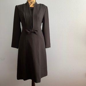 Vintage ILGWU Black Midi Dress Size 6